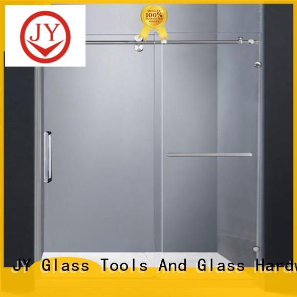 JY stable sliding closet door hardware factory for glass