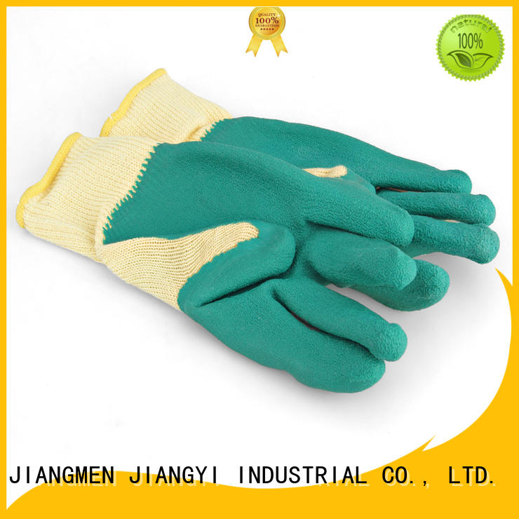 coated glass gglb JY Brand industrial safety hand gloves manufacture