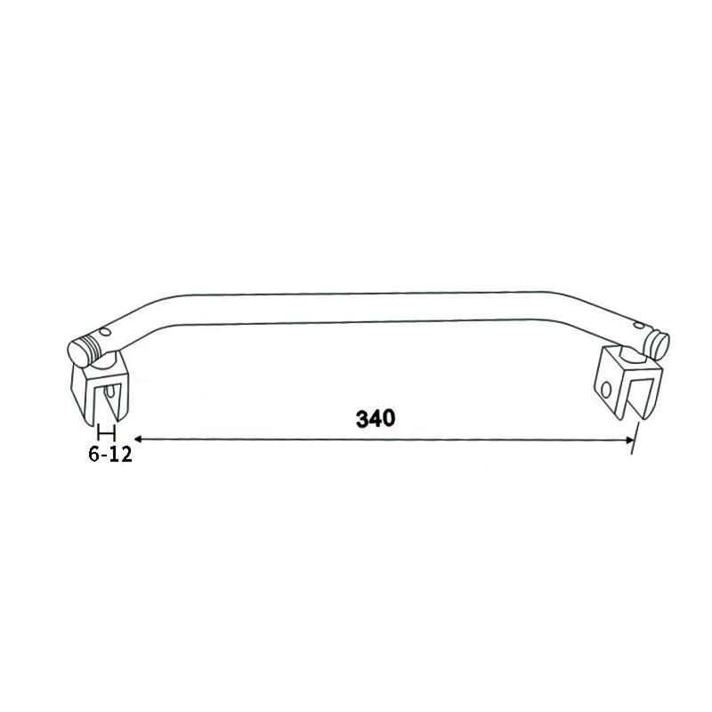 JY ka99 double curved shower curtain rod-1