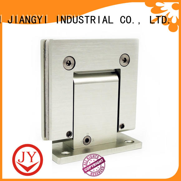 JY solid construction glass shower door hinges China for Wet Rooms