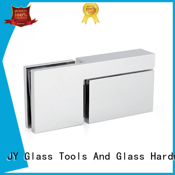 JY hinge glass shower door supplier for Hotel Shower Room